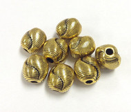 8 Gold plated bead Spacers
