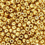 8/0 Galvanized Permanent Gold Seed Beads Japanese