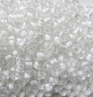 8/0 Japanese Crystal Lined White Glass Seed beads