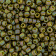 8/0 Opaque Olive AB Semi-Glazed Round Japanese