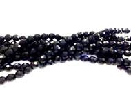 8mm Czech Dark Cobalt Blue Fire Polished Glass beads