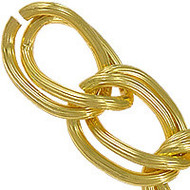 Aluminum Open Gold Plated twist oval chain 4