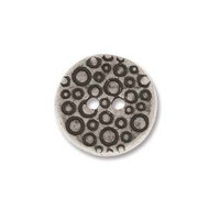 Ant Silver 12.5mm Coin Pewter Button