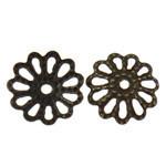 Antique Bronze Flower Filigree Bead Caps 2