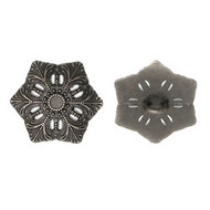 Antique Flower GunMetal Button