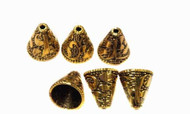 Antique Gold Plated Decor Bead Cone