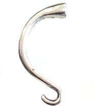 Antique Silver Half Bracelet End Cap Closures