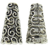 Antique Silver Plated Bead Cone