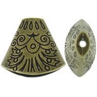 Base Metal Bead Cap Antique Gold 1