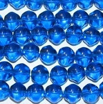 Blue Czech nugget Translucent glass beads