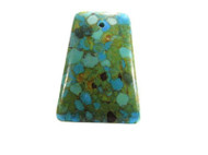 Blue Magnesite Rectangle Gemstone Pendant