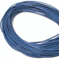 Blue Round Leather cord 1.5mm