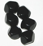 Czech black bicone glass beads