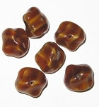 Czech brown multi nugget glass beads