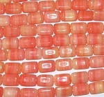 Czech Coral Multi Glass Marble beads