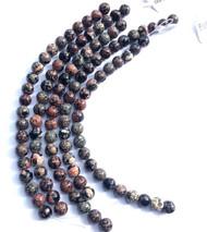 Dakota Gemstone Mexican 10mm Round Red Snowflake Jasper Beads