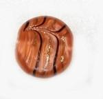 "Disk "" Tababular"" Bohemian feather glass bead"