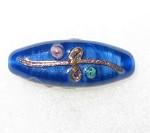 Fine handmade Czech Bohemian glass bead