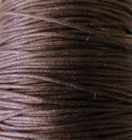 Genuine Dark Brown waxed Cotton Cord 1.mm