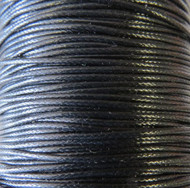 Genuine Natural Black Waxed Cord 1.5mm