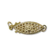 Gold Filled 17x6mm Eye Shape Clasp