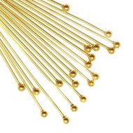 Gold Plated Ball Pins 3. Inches 22-Gauge