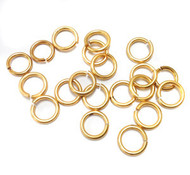 Gold plated round open Jump Ring 18-Gauge