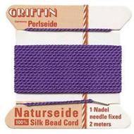 Griffin silk bead cord Amethyst 10