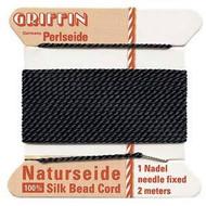 Griffin silk bead cord Black 2