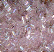Hex Japanese Light  Blush  AB Glass Seed beads