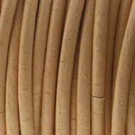 Indian Round Leather Peach 1.5mm Sold Per Yard
