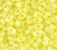 Japanese Lemon Opal Ltr Peanut 2x4mm Beads 15GM