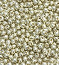 Miyuki 3.4 Mm Drop Duracoat Galvanized Silver  Beads 10 Gram
