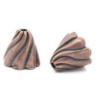Bead cap Antique copper