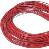Red Round Leather cord 1.5mm