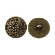 Round Antique bronze Round Button