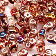 Superduo 2.5x5mm Rosaline Sliperit Beads 10GM Bag