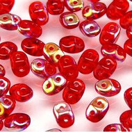Superduo 2.5x5mm Ruby AB Beads 10GM Bag