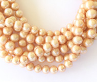 Genuine natural Potato Cream Freshwater Pearl Beads