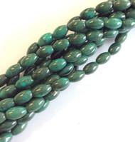 fine genuine oval African turquoise Gemstone Bead