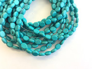 fine genuine blue magnesite Gemstone Beads