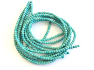 4mm fine genuine Blue magnesite Gemstone Beads