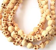 Gemstone natural skull Blush Beads
