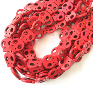 Gemstone natural skull Red Beads