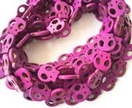 Gemstone natural skull Purple Beads