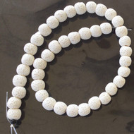10mm Perfect Round white unwaxed Volcanic Gemstone lava Beads