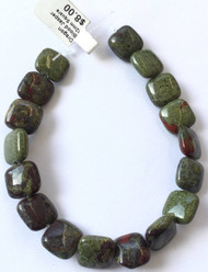 Fine Natural Dragon Blood Jasper Square Gemstone beads Beading Supplies