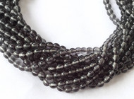 80 Fine Natural African Smoke Quartz Gemstone Smooth round beads Beading Supplies