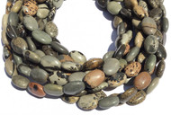 29 Natural Willow Creek Jasper Flat Oval Gemstone beads Stone