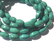 Natural Green Turquoise Oval Gemstone beads Stone Beading Supplies